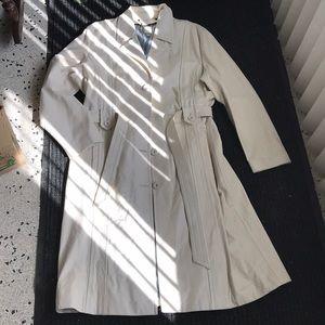 Wilsons Leather white coat long jacket Sz XL